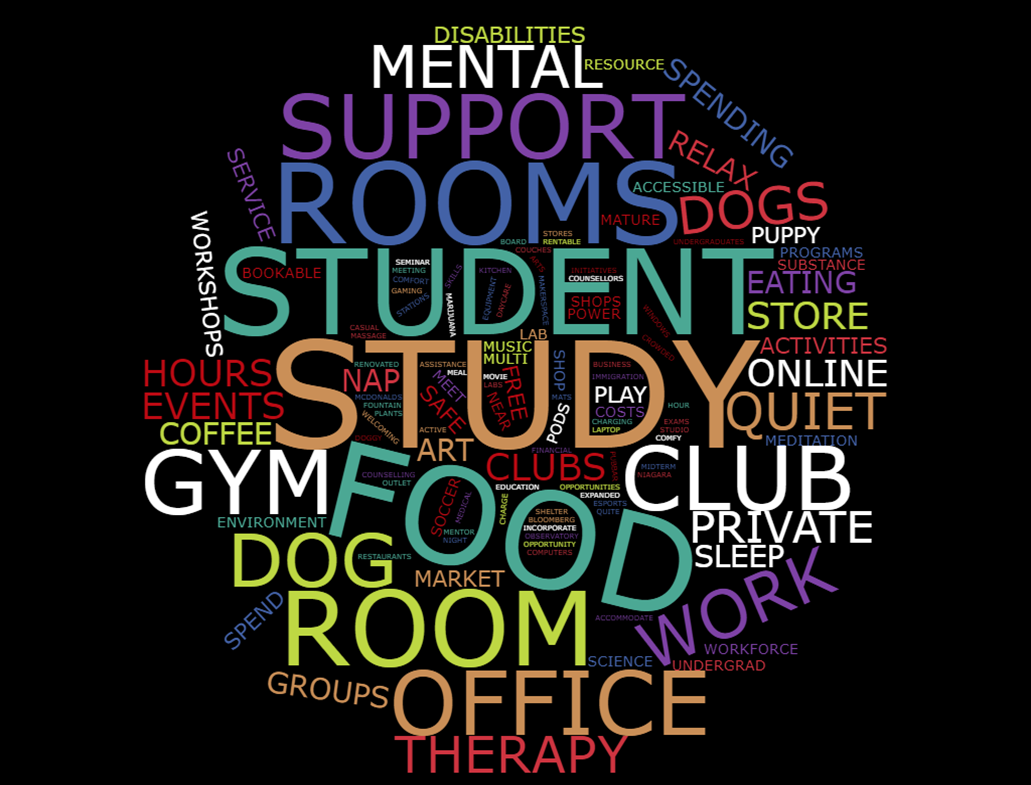 Student Centre Word Cloud